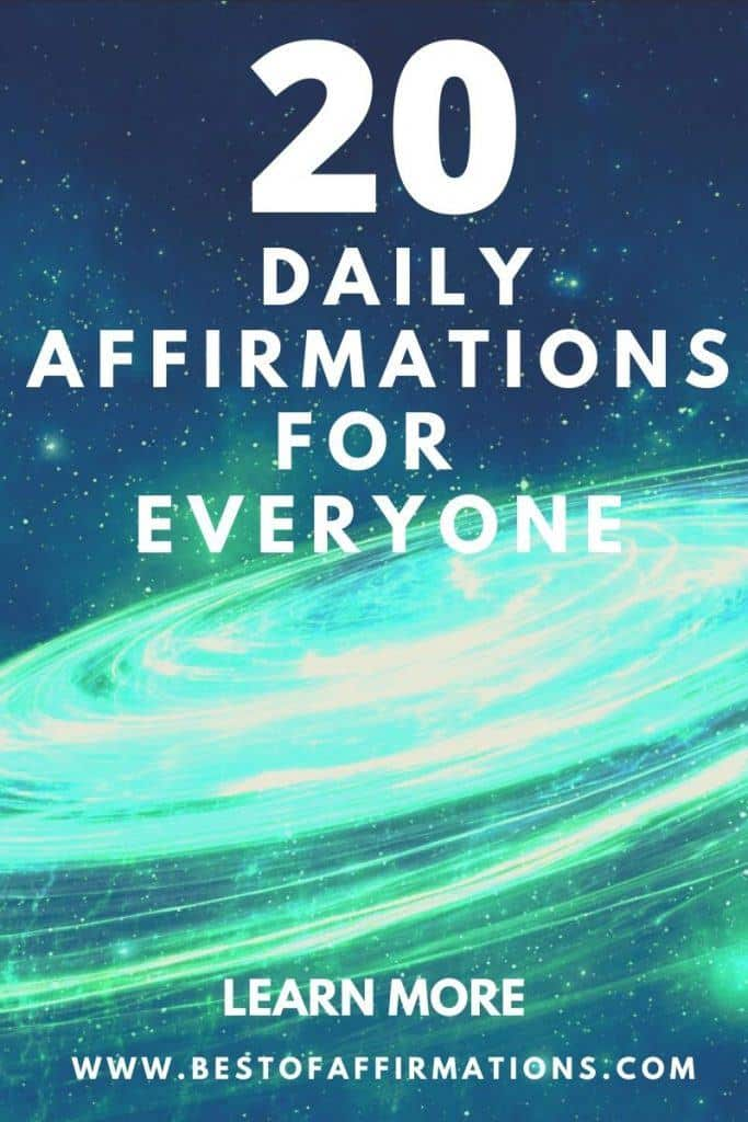 20 daily affirmations for everyone